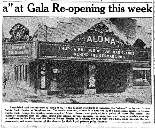 Aloma Theater Re-opening (02/02/1930)