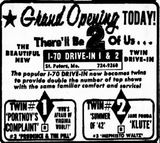 October 20th, 1972 grand opening ad as twin