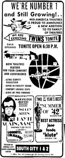 September 15th, 1972 grand opening ad