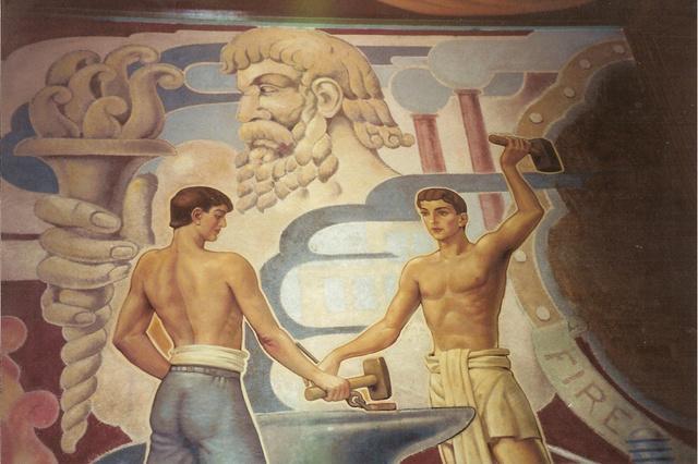 """""""Fire"""" mural"""