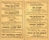 <p>Broadway, Meir, Stoke on Trent, weekday programmes for March, 1958.</p>