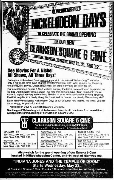 May 18th, 1984 grand opening ad
