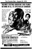 "AD FOR ""DOCTOR ZHIVAGO"" - THE CINEMA AND OTHER THEATRES"