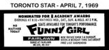 "AD FOR ""FUNNY GIRL"" - FAIRLAWAN THEATRE"