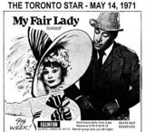 "AD FOR ""MY FAIR LADY"" - EGLINTON THEATRE"