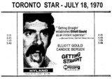 "AD FOR ""GETTING STRAIGHT"" - ODEON HYLAND THEATRE"