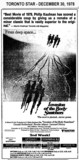 "AD FOR ""INVASION OF THE BODY SNATCHERS"" - JACKSON AQUARE (HAMILTON) AND OTHER THEATRES"