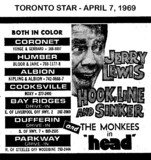"""AD FOR """"HOOK, LINE AND SINKER & HEAD"""" - COOKSVILLE AND OTHER THEATRES"""