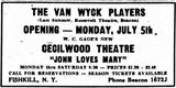 July 4th, 1948 grand opening ad