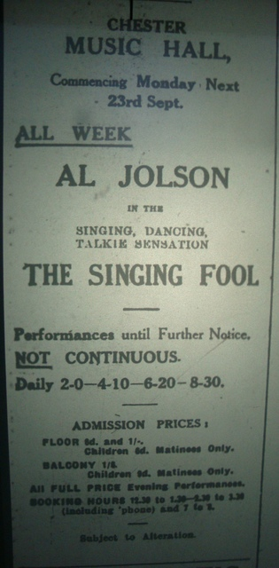 FIRST TALKIE AT THE MUSIC HALL