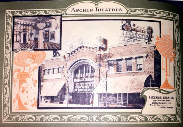 LAKESIDE Theatre; Chicago, Illinois.