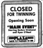 June 15th, 1979 ad for its twinning. Opened on the 29th.