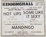 Classy fare at the Kenninghall Cinema in March 76