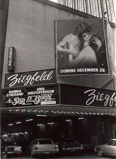 "Ziegfeld Theatre ""A Star is Born"" (1976) Christmas engagement"