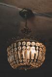 """[""""Art Deco brass chandelier in The Bells Theatre - bit.ly/bellstheatre""""]"""