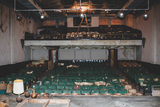 """[""""The abandoned Bells Theatre in great need of repairs - Help revive this art deco cinema! bit.ly/bellstheatre""""]"""