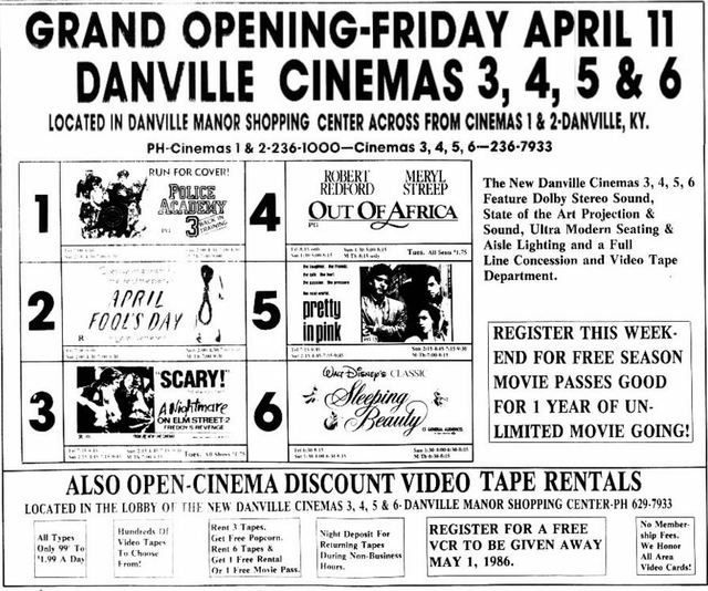 April 11th, 1986 grand opening ad