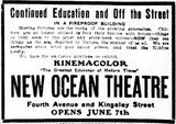 June 7th, 1913 grand opening ad