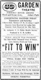 June 19th, 1919 grand opening ad as Garden