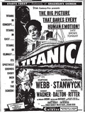 Fox Chinese Theatre &quot;Titanic&quot; (1953) engagement ad