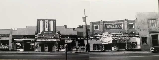 The New Mock and Wellman Theatres Girard Ohio 1954
