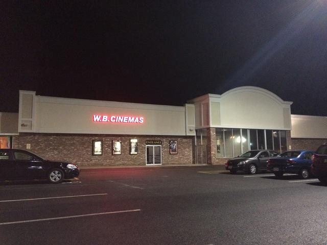 Cinema Entrance at night
