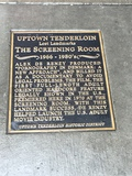 the plaque in front of the historic site