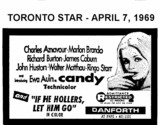 "AD FOR ""CANDY AND IF HE HOLLERS, LET HIM GO"" - DANFORTH THEATRE"