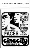 """AD FOR """"FACES"""" - CINECITY"""