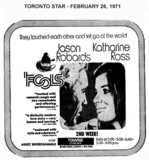 """AD FOR """"FOOLS"""" - TOWNE CINEMA"""