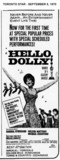 "AD FOR ""HELLO DOLLY - COMING ATTRACTION"" - RUNNYMEDE AND OTHER THEATRES"