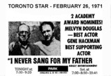 "AD FOR ""I NEVER SANG FOR MY FATHER"" - PARK THEATRE"