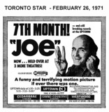 "AD FOR ""JOE"" - WESTWOOD & OTHER THEATRES"