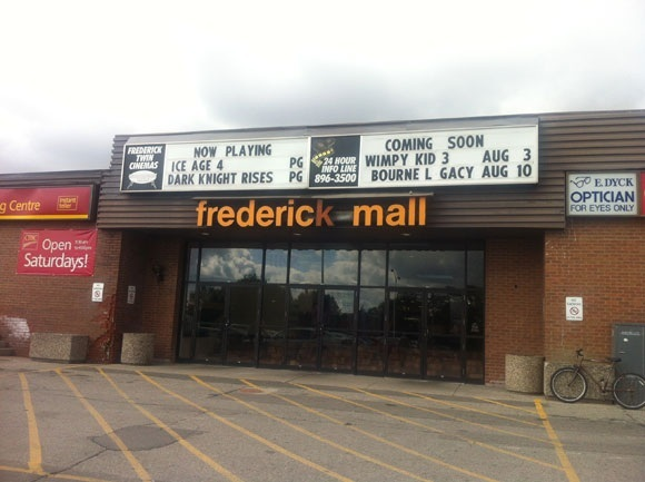 imagine cinemas frederick twin cinemas in kitchener ca