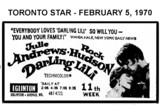 "AD FOR ""DARLING LILI"" - EGLINTON THEATRE"