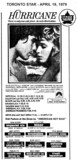 """AD FOR """"HURRICANE"""" - SCARBORO DRIVE-IN AND OTHER THEATRES"""