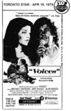 "AD FOR ""VOICES"" - UPTOWN 1 THEATRE"