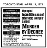 """AD FOR """"MURDER BY DECREE"""" - SQUARE ONE THEATRE & OTHERS"""
