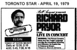 "AD FOR ""RICHARD PRYOR LIVE IN CONCERT"" - ELGIN THEATRE"
