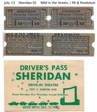 Sheridan tickets, July 13, 1968