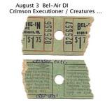 Bel-Air tickets, August 3, 1968