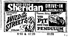 Newspaper ad, July 13, 1968