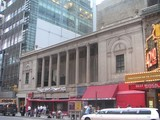 <p>The Times Square Theatre is on the left-hand side of this building, photographed in August 2003.</p>