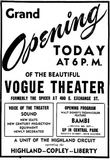 September 6th, 1948 grand opening ad as Vogue