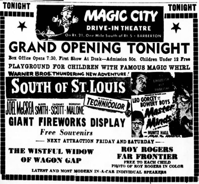 June 22nd, 1950 grand opening ad