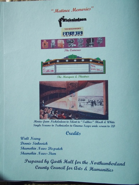 """Inside cover of """"Matinee Memories"""""""
