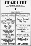 What's on at the Drive In? 1948 Starlite
