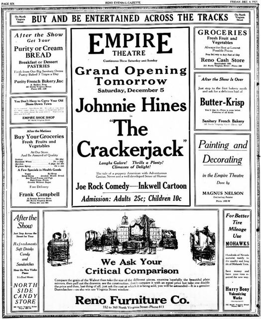 December 4th, 1925 grand opening ad
