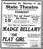 June 30th, 1928 grand opening ad as State
