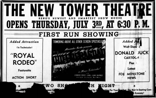 July 2nd, 1941 grand opening ad